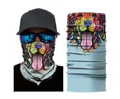 Máscara de leezo Mujeres Hombres Animal en 3d Tiger Impreso sombrilla sudor Hairband diadema Toalla Cámara Carcasa Outdoor Sportswear accesorios Multifunctional Headwear, Unisex, color A29, tamaño talla única