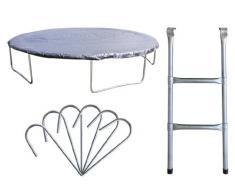 Premium Set para trampolín de jardín 1,85 M - 4,60 M - diversos tamaños Cobertura Escalera Piquetes - PS/2007 - Size 4,60 m 6L