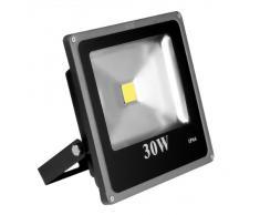 Lighting EVER® Iluminación LED luz de inundación exterior súper brillante de 30W, Equivalente a una bombilla SAP (sodio a alta presión) de 75 W, Blanco diurno, LED luz de inundación, Luces de seguridad