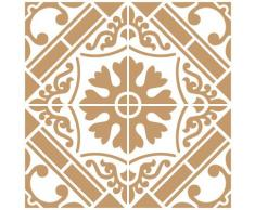 TODO-STENCIL Deco Fondo 096 Baldosa. Medida Exterior 25 x 25 cm Medida del diseño: 20 x 20 cm