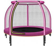ZCXBHD Trampolín Redondo Interior para Niños con Colchoneta De Red De Seguridad Y Acolchado con Cubierta De Resorte para Trampolín De Ejercicios para Interiores Y Exteriores para Niños,Pink