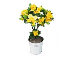 Closer2Nature HBC001YW - Vara de Azalea Artificial, 35 cm, Color Amarillo
