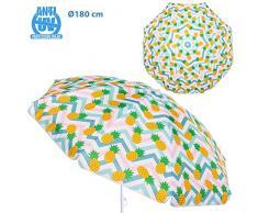 Sombrilla de Playa con piñas Amarilla de Acero de 180 cm Garden - LOLAhome