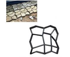 Feewerain 9 Cuadrículas Bricolaje Paseo Fabricante De Hormigón Stepping Stone Molde Reutilizable Patio Camino del Fabricante del Molde del Césped del Jardín Loseta Mould Color Negro