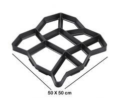 DIY molde de plástico con almohadilla, molde para camino terraza D.I.Y. molde para SDS-Plus para adoquines de borde/Trottoirs jardín 50 x 50 x 4 cm)