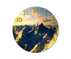 ZKHONG Reloj De Regalo Montaña Piedra Sol Reloj De Pared Acrílico Movimiento Silencioso Reloj Etiqueta De La Pared Reloj Sin Alarma De Borde-826-1
