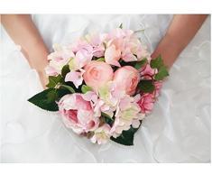 Flores De Peonía Decoración De La Boda Artificiales Dama De Honor Ramo Nupcial Niña De Las Flores
