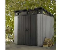 Keter - Caseta de jardín exterior Artisan 77, Color gris