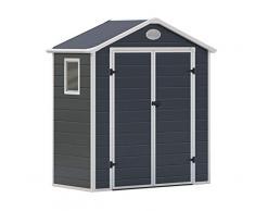 Gardiun Caseta de Resina Arabela Antracita/Blanco 1,92 m² Extrior - KSP38120, 188 x 102 x 225 cm