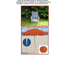 Colour - la playa SET - Holly STABIELO de playa plegable - colour AZURO - REISE-SET - sombrilla - playa sunny Holly STABIELO - Camping - Tiempo libre pantalla - ligero EINDREHBARER sombrilla + alta protección solar - colour rojo