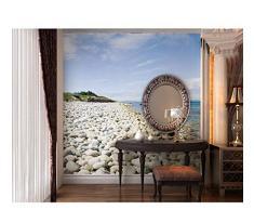 Ytdzsw Papel Pintado Mural Grande Del Mural De La Pared 3D Del Adoquín De Piedra 5D Del Mar Para El Fondo Del Sofá Comedor 3D Foto Murales Papel De La Pared-350X245Cm