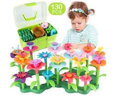 CENOVE Juguetes para niñas de 3 a 8 años de Edad Juego de Juguetes de Construcción de Jardín de Flores, Construye un Ramo de Arreglo Floral Regalo de Juego para Niñas y Niños(130 PCS)