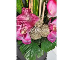 Artificial fults rosa Gladiolos, orquídea Cymbidium y arreglo Floral de Anturio