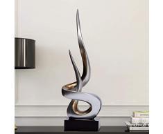YIGEYI Ornamento Zen Escultura Artesanía Decoración Obra de Arte Moderno Minimalista Salón Decoraciones de Oficina Regalo de Apertura Esculturas Decorativos