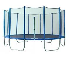 SixBros. SixJump 4,35 M Trampolín Cama elástica de jardín polígono Trampolín azul - Red de seguridad - PB435/2052