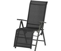 Siena Garden 733158 - Tumbona (aluminio), color negro