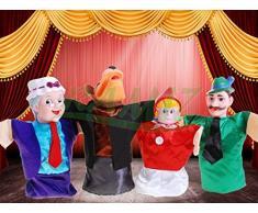 """BSD Marioneta de Figuras con el Teatro de Marionetas 77024 """"Red Riding Hood - marioneta de Mano"""