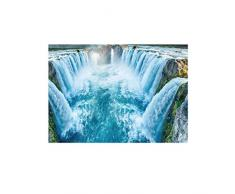 Busirde Río Piedra Etiqueta de la Pared 3D del adoquín a Prueba de Agua de baño Cocina Suelo Decoración Tatuaje Etiquetas caseras del Papel Pintado 1# 50 * 70cm