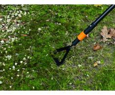 Fiskars Azada ergonómica, Cabezal de herramienta QuikFit, Largo: 12,5 cm, Cabeza de acero al boro, Negro/Naranja, QuikFit, 1000676
