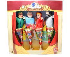 Teatro de marionetas PEQUEÑO ROJO EQUITACIÓN CAPUCHA Marionetas de mano Marionetas de cuento de hadas Marioneta Espectáculo