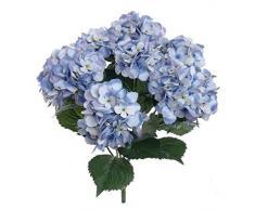 8m - Ramo Artificial de Hortensias de seda, Flor para Decoración de hogar boda Hortensia falsa seca color Azul