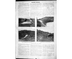 Impresión Antigua 1905 del Gran Saetín de Irrigación de la Presa del Granero del La de Turlock del Canal del Sistema Modesto Gran