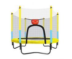 Mini TrampolíN - TrampolíN Interior para NiñOs - con Escudo De Seguridad - con Canasta De Baloncesto - TrampolíN De JardíN - Puede Soportar 150 Kg