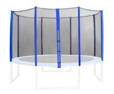 Red de segurida azul para trampolín de jardín 1,85m -4,60m - diferentes tamaños - SN-466 - Size 3,05 m 3L