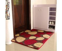 Ommda Alfombras de Baño Multicolor Antideslizante Absorbente Felpudo de Entrada para Sala de Estar Cocina Dormitorio de Interior Exterior Adoquín Rojo 60x90cm