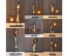 Forart candelabros, Decorativo sostenedores de la Vela de la Vela de Metal Linterna con la Vendimia Colgantes o Adornos de Mesa Decoraciones Inicio Navidad