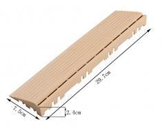 BodenMax Suelo MAX® Cemento Mosaico Click Suelo Azulejos Set 30 x 30 cm Terraza Azulejos, Terraza Placa Beige klickfl iesen (Aspecto Notebook Recto con ojete (14 Unidades)