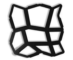 Kenley Aceras hormigón Forma 2608597169 Forma tiritas Forma – Reutilizables Fundición para plantilla Jardín Piedra Natural tiritas – Adoquín Forma – 44 x 44 cm