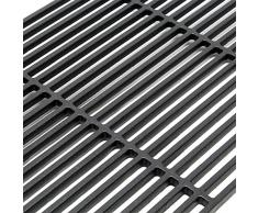 Rejilla grill parrilla hierro fundido cuadrada 60x40 cm maciza barbacoa BBQ asado gas leña carbón