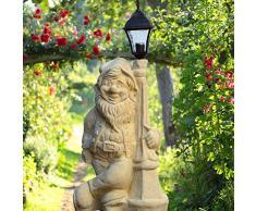 Jardín Piedra de ensueño Enano de jardín grande con farol - Rudolphus
