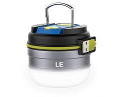 LE Linterna para camping LED recargable, 280lm, cargador externo de 3000mAh, 3 modos de luz, resistente al agua IPX4, luz neutra, luz de acampada, luz para exteriores
