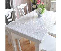 Abok - Mantel Impermeable para Mesa (Cristal Suave, antiquemaduras), Piedra de adoquín de 1 mm, 90 x 120 cm