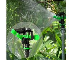 DN15 plástico Swing brazo giratorio Boquilla de agua 360 Degree Ángulo ajustable césped jardín riego boquilla