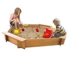 Garden Games 6410 - Parque de juegos de arena octogonal (de madera natural, 1.8 m)