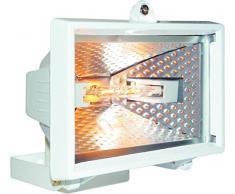 Smartwares 10.036.82) Foco halógeno exterior de 120W 2250lm gris HL120W Blanco