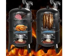 TecTake Barbacoa Barbecue Grill con Carbón Vegetal Parrilla Fumador - varios modelos - (3en1 BBQ fumador/parrilla   no. 400820)