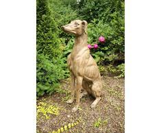 88cm escultura galgo perro de Whippet escultura jardin perro envejecido