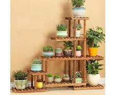 Bastidor para macetas Flower Rack / Multilayer Wooden Flower Rack / Display Decorativo Stand / Modern Minimalist / Home Jardín Patio / Patio Exterior Pantalla de Patio de flores (2 colores) ( Color : A )