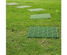 Baldosas de jardín o patio con rejilla de Parkland®, antideslizantes, para crear senderos sobre césped, cuadradas, de 30 cm