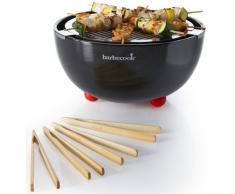 Barbecook Joya - Barbacoa (Barbacoa, Carbón Vegetal, 26 cm, Mesa, Parrilla, Negro)