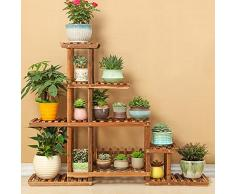 Bastidor para macetas Flower Rack / Multilayer Wooden Flower Rack / Display Decorativo Stand / Modern Minimalist / Home Jardín Patio / Patio Exterior Pantalla de Patio de flores (2 colores) ( Color : B )