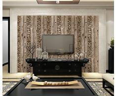 Poowef Wallpaper Papel tapiz de piedra de adoquín de simulación Papel tapiz de pared de fondo de piedra de cultura Rock 3D Hotel,Un