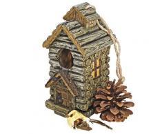 Design Toscano by Blagdon HF330885 - Figura decorativa (resina), diseño de casa de pájaros con pájaro