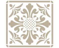Stencil Mini Deco Fondo 077 Azulejo Iberia 11. Medida exterior del stencil: 12 x 12 cm Medida del diseño: 9,5 x 9,5 cm