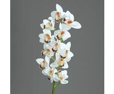 """De la orquídea-Cymbidium con diseño de flores de 12 """"fresh"""" de colour blanco 98 cm Arte de la flor de ppp"""