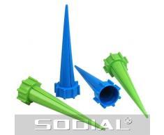 SODIAL(R) 4 x Regadera Rociadera para Riego de Plantas Sistema de Riego
